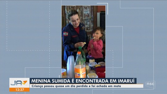 Menina de 2 anos que estava desaparecida é achada em estrada de SC com cão de estimação