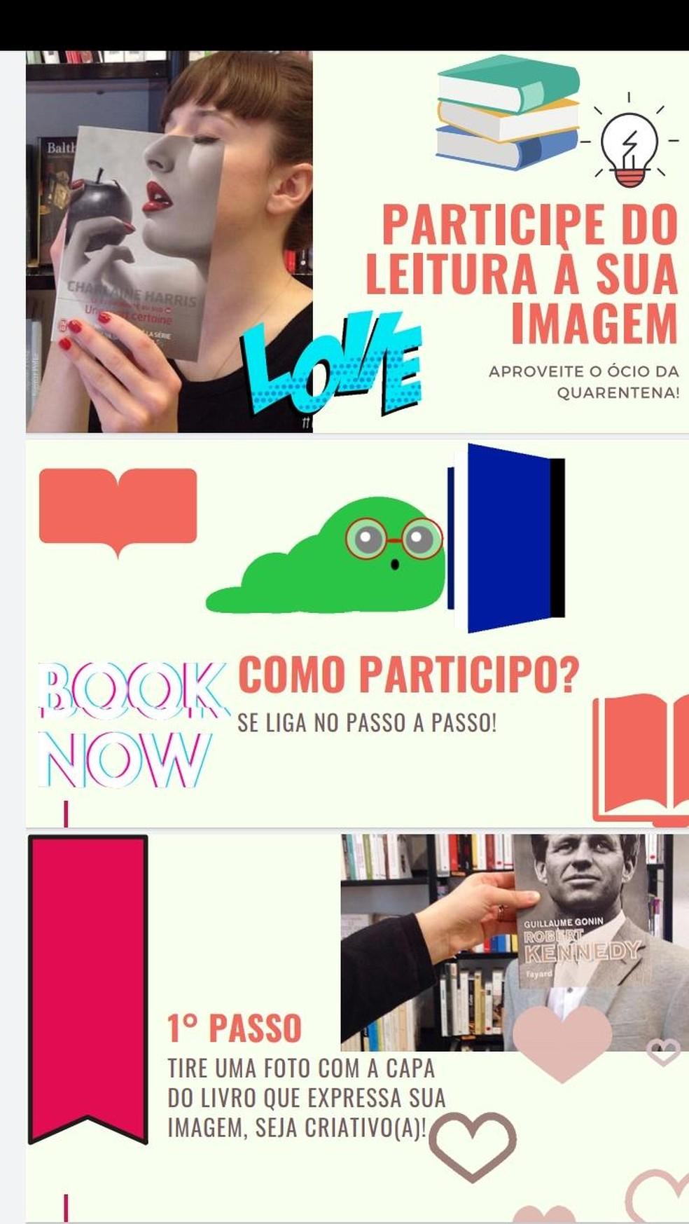Campanha incentiva leitura em Ariquemes — Foto: Divulgação