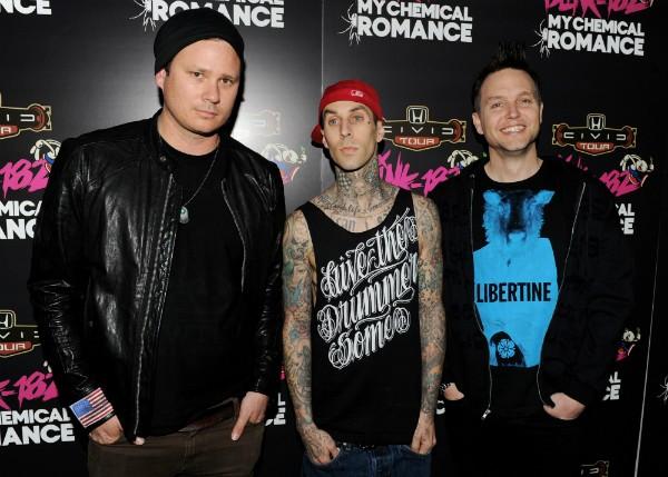 Os membros do Blink 182 durante um evento em 2011 (Foto: Getty Images)