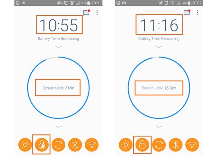 Reduza o tempo de bloqueio de tela para economizar bateria no celular (Foto: Reprodução/Barbara Mannara)