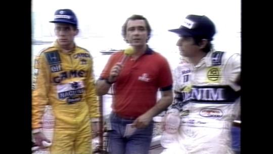 O dia em que Reginaldo Leme entrevistou Piquet e Senna juntos na marra, nos EUA