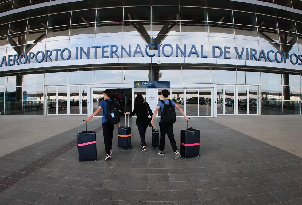 Aeroporto Internacional Viracopos espera receber 141 mil passageiros neste feriado — Foto: Ricardo Lima