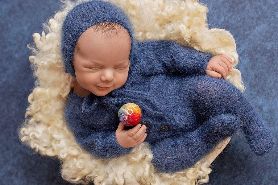 Patricia Abravanel mostra ensaio newborn de Senor (Foto: Reprodução/Instagram)