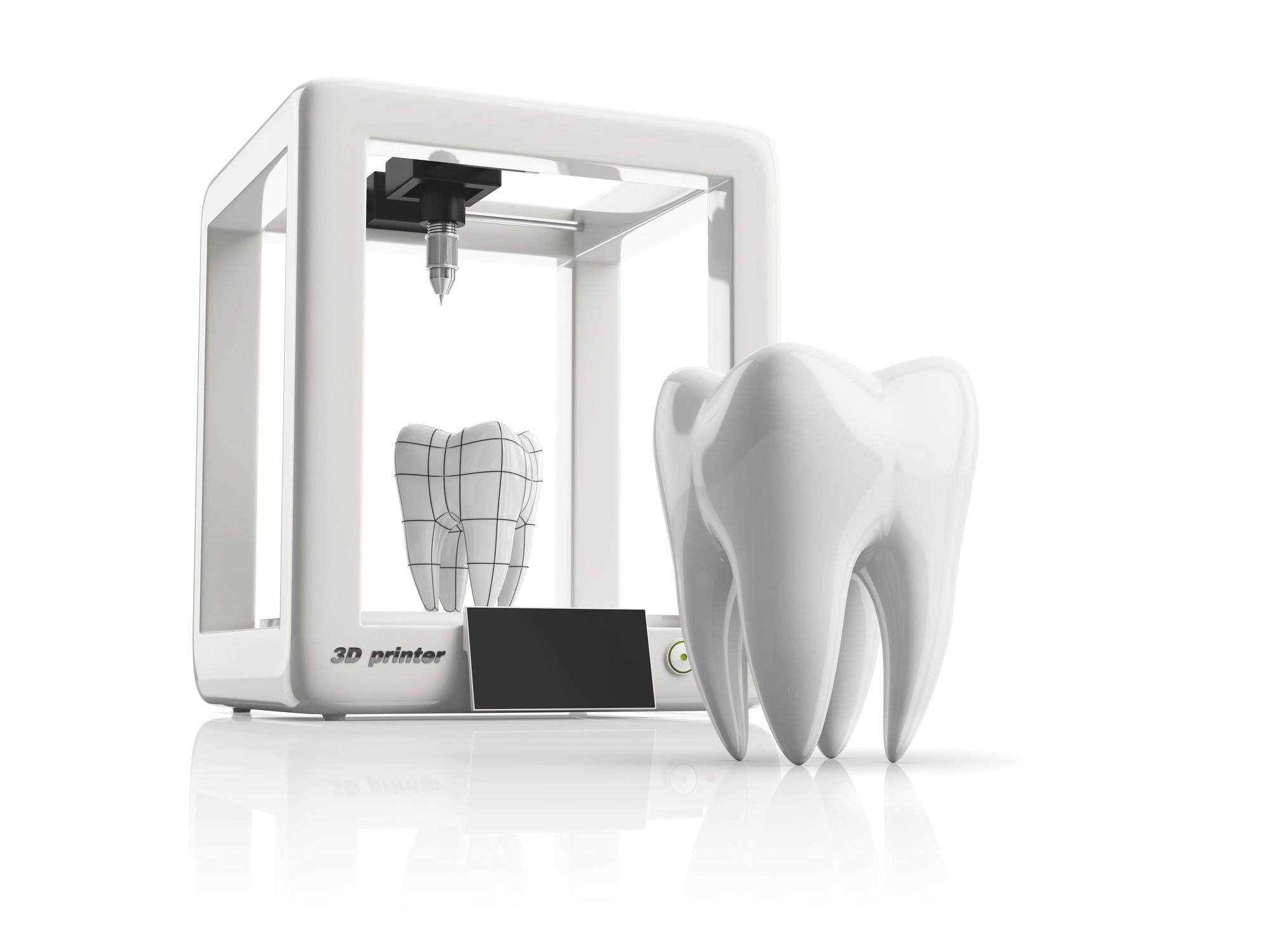 Na odontologia, dentaduras, pontes e coroas dentárias, entre outras peças podem ser produzidas por meio de impressão 3D (Foto: ThinkStock)