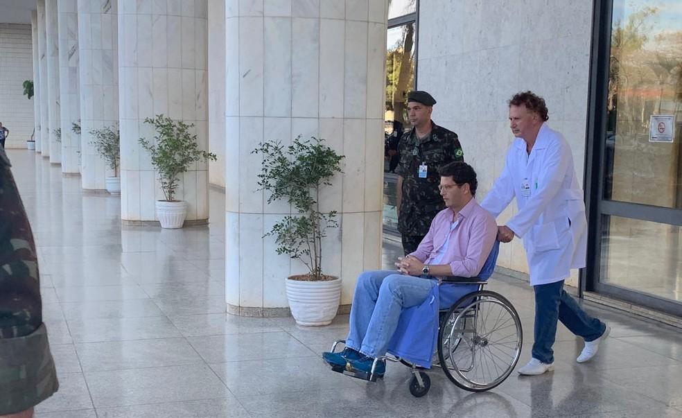 Ministro Ricardo Salles, do Meio Ambiente, tem alta do Hospital das Forças Armadas, em Brasília — Foto: Brenda Ortiz/G1