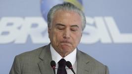 'Barbaridade', disse Temer na hora da prisão (Eraldo Peres/AP)