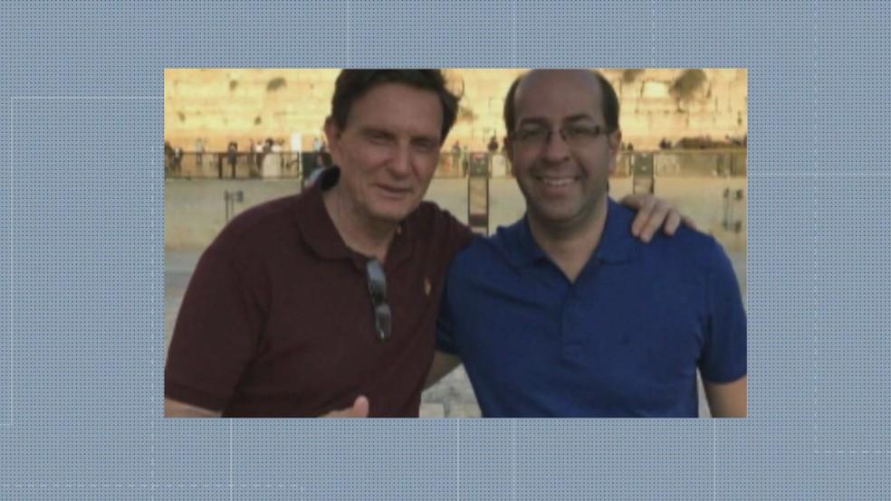 Crivella e Rafael Alves — Foto: Reprodução/TV Globo