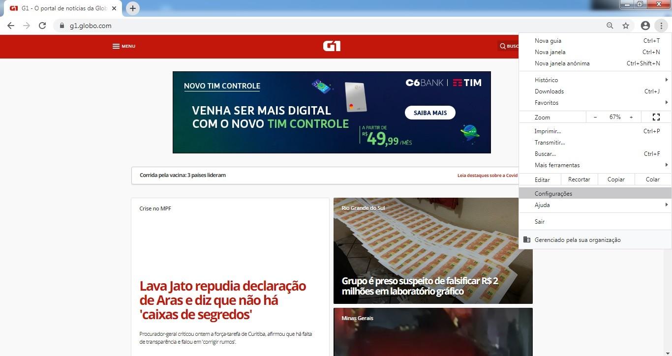 Saiba como definir o G1 como página inicial do seu navegador