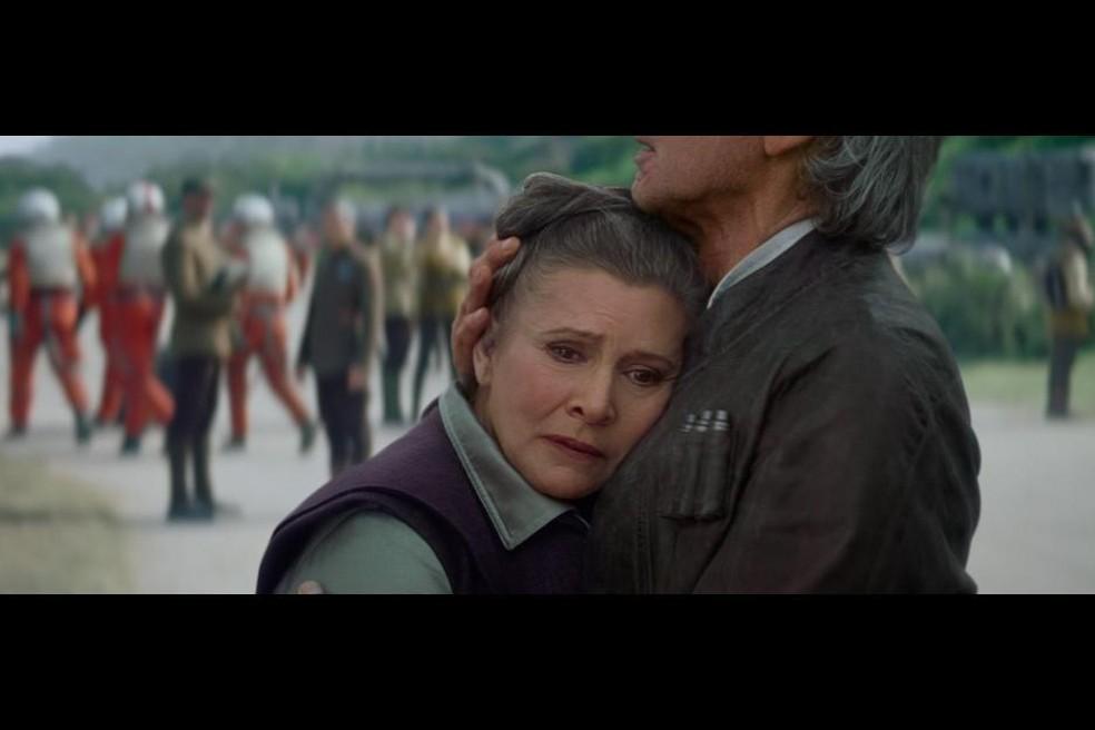 Carrie Fisher em 'Star Wars - O Despertar da Força' (2015). — Foto: Divulgação/Lucas Film