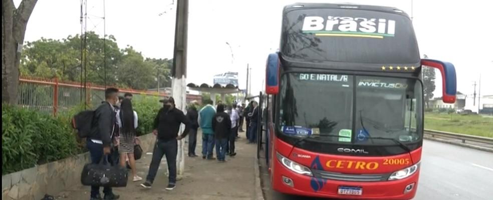 Vitória da Conquista é rota de ônibus interestaduais — Foto: TV Santa Cruz