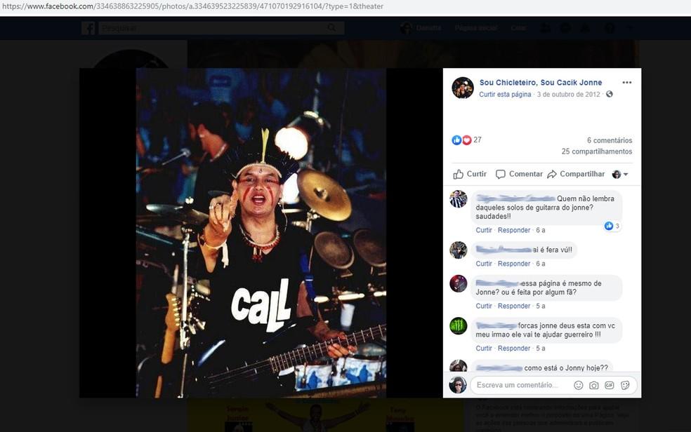 Cacik Jonne foi músico da banda Chiclete com Banana por cerca de duas décadas — Foto: Reprodução/Facebook