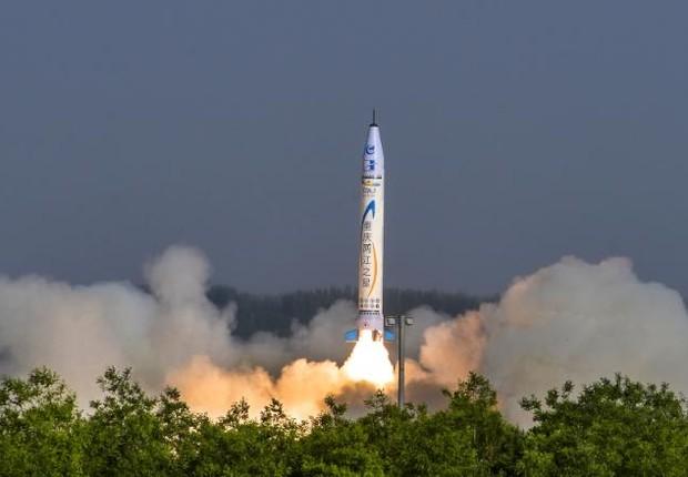 Startup chinesa lança seu 1º foguete ao espaço (Foto: One Space)
