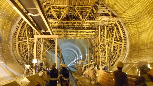 Obras de trecho da Linha 5-Lilás do Metrô em São Paulo (Foto: Divulgação/Metrô)
