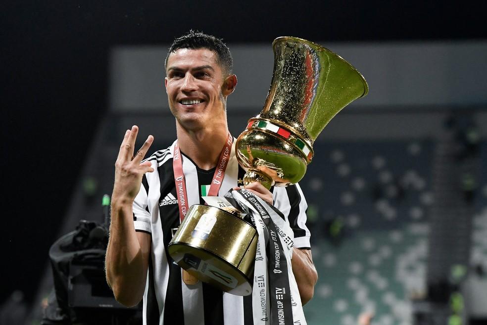 Após título da Copa da Itália, Cristiano Ronaldo tenta levar Juventus à Champions e garantir artilharia do Italiano — Foto: Getty Images