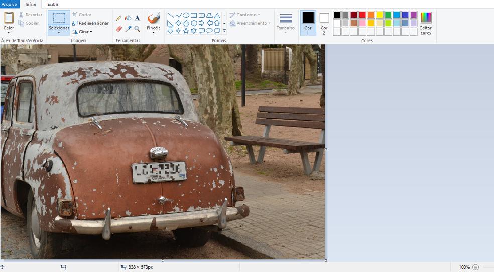 O Paint é um clássico programa de edição e criação de imagens da Microsoft (Foto: Reprodução/Luana Marfim)