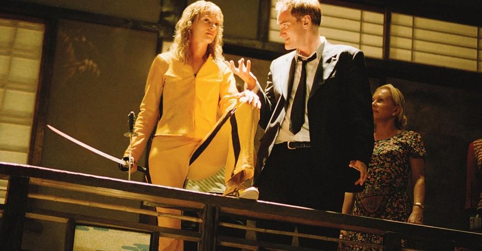 Uma Thurman e Tarantino durante a gravação do filme Kill Bill (Foto: Raoul Luoar/ Flickr)