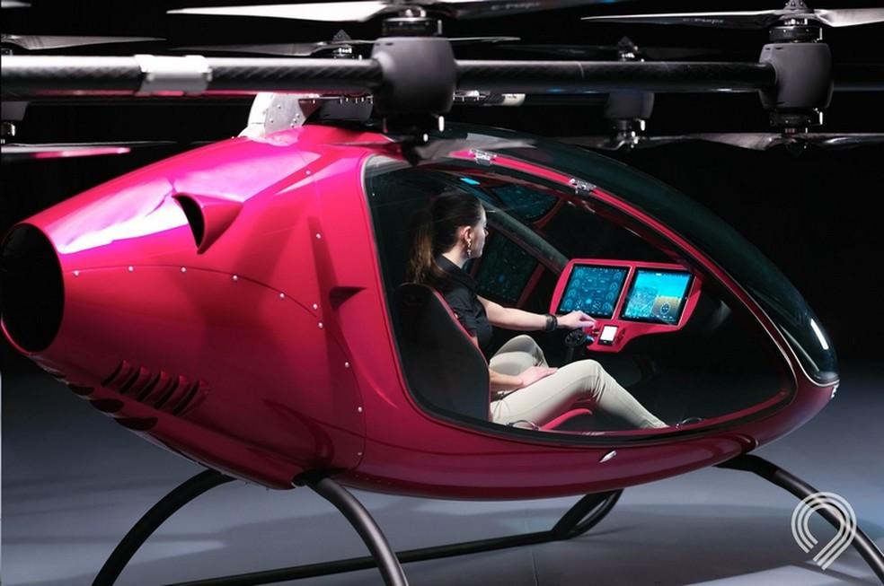 AA360, novo drone da Fly Astro que transporta passageiros  (Foto: Divulgação/Fly Astro)
