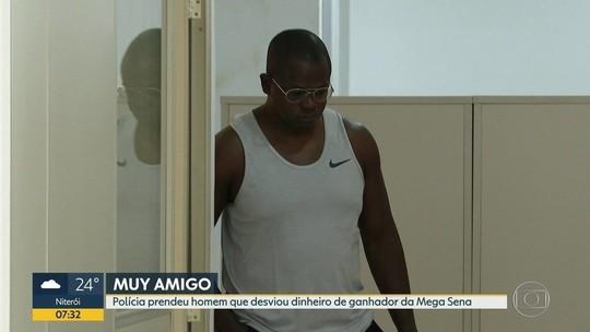 Polícia prende suspeito de desviar dinheiro de ganhador da Mega