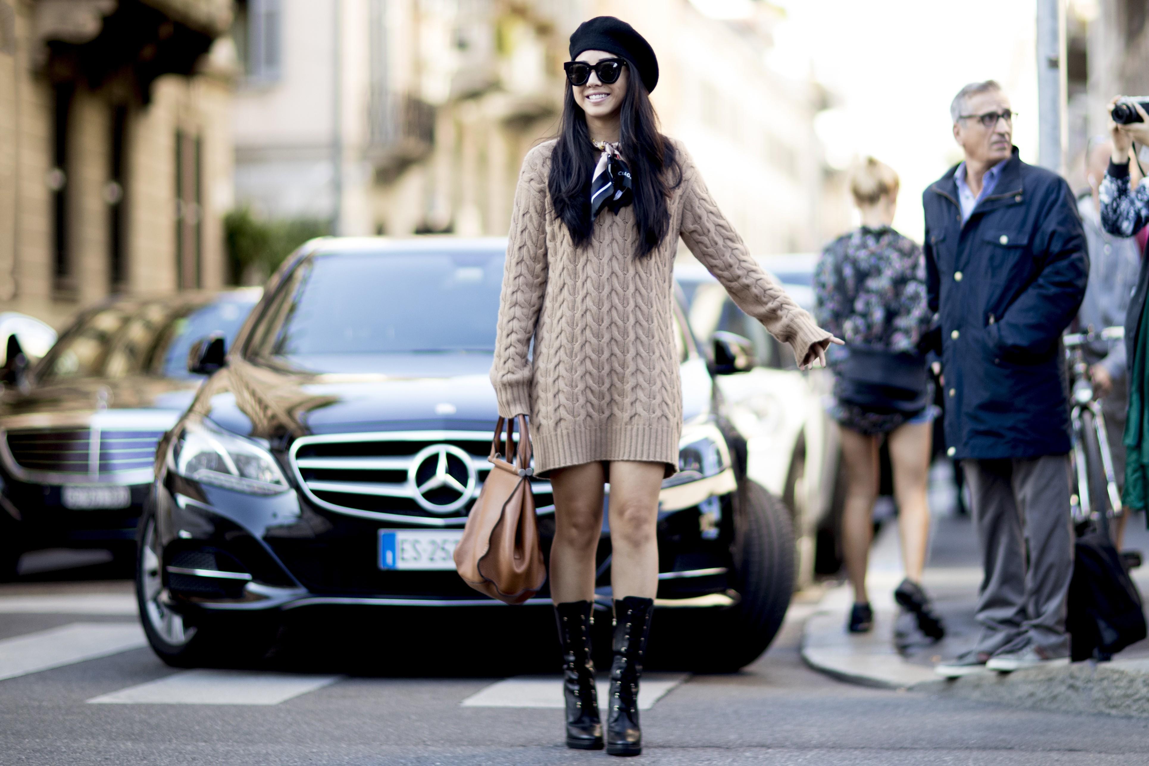 Vestido lã (Foto: Imaxtree)