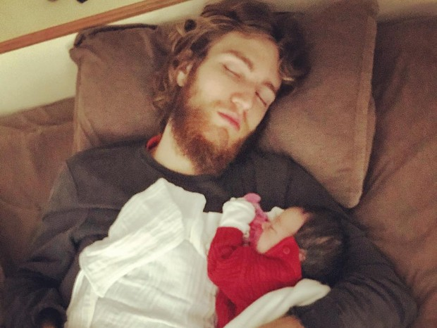 Bruno Ciocler e a filha, Elis (Foto: Reprodução/Instagram)