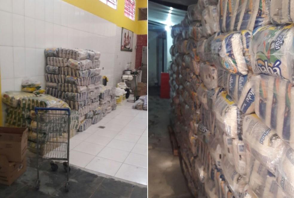 Mercadorias roubadas foram apreendidas em Santos, SP (Foto: Divulgação/Polícia Civil)