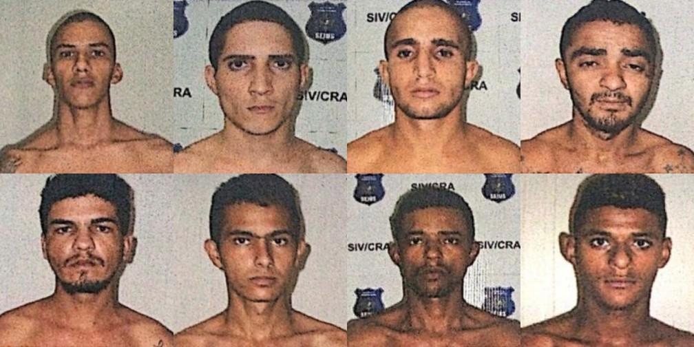 Oito presos fugiram do presídio de Ariquemes na quinta-feira (22). Dois já foram capturados. — Foto: PM/Divulgação