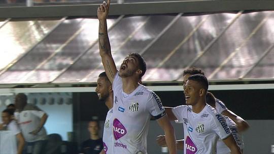 Veja os gols da virada do Santos para cima do Ceará na Vila: 2 a 1