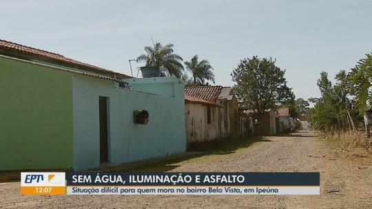Falta de asfalto, lombada, água e iluminação gera reclamações no bairro Bela Vista em Ipeúna