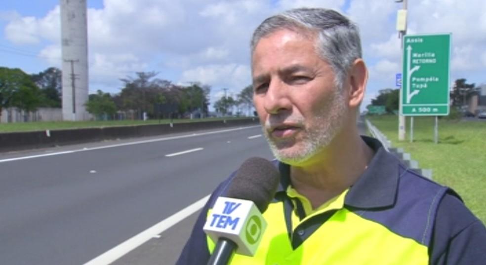 Funcionário da Entrevias, Cláudio Goes, morreu no acidente em Júlio Mesquita — Foto: TV TEM/Reprodução