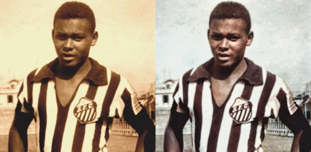 Coutinho estreou pelo time profissional do Santos em um amistoso com 14 anos e 11 meses — Foto: Reprodução