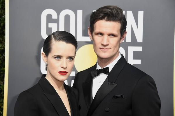A atriz Claire Foy e o ator Matt Smith (Foto: Getty Images)