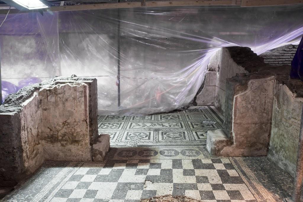 Casa do militar encontrada durante as escavações para a construção do transporte subterrâneo (Foto: Soprintendenza Speciale di Roma)