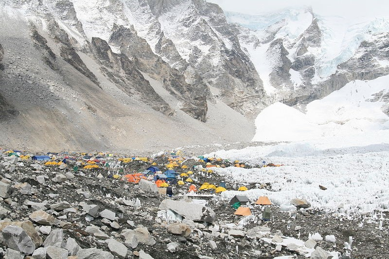 Acampamento base do Everest (Foto: Wikimedia Commons)