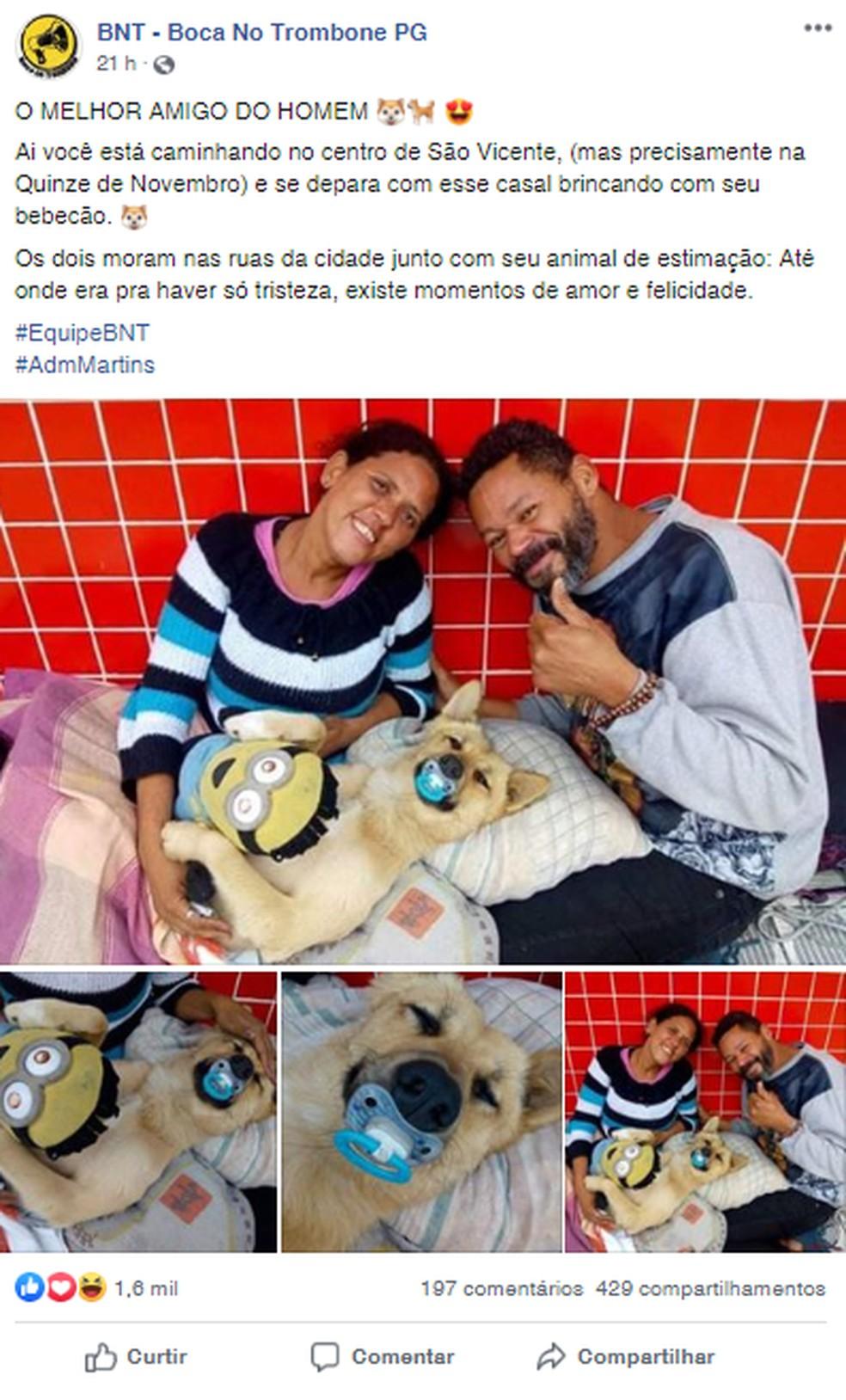 Publicação fez sucesso nas redes sociais — Foto: Reprodução/Boca no Trombone PG