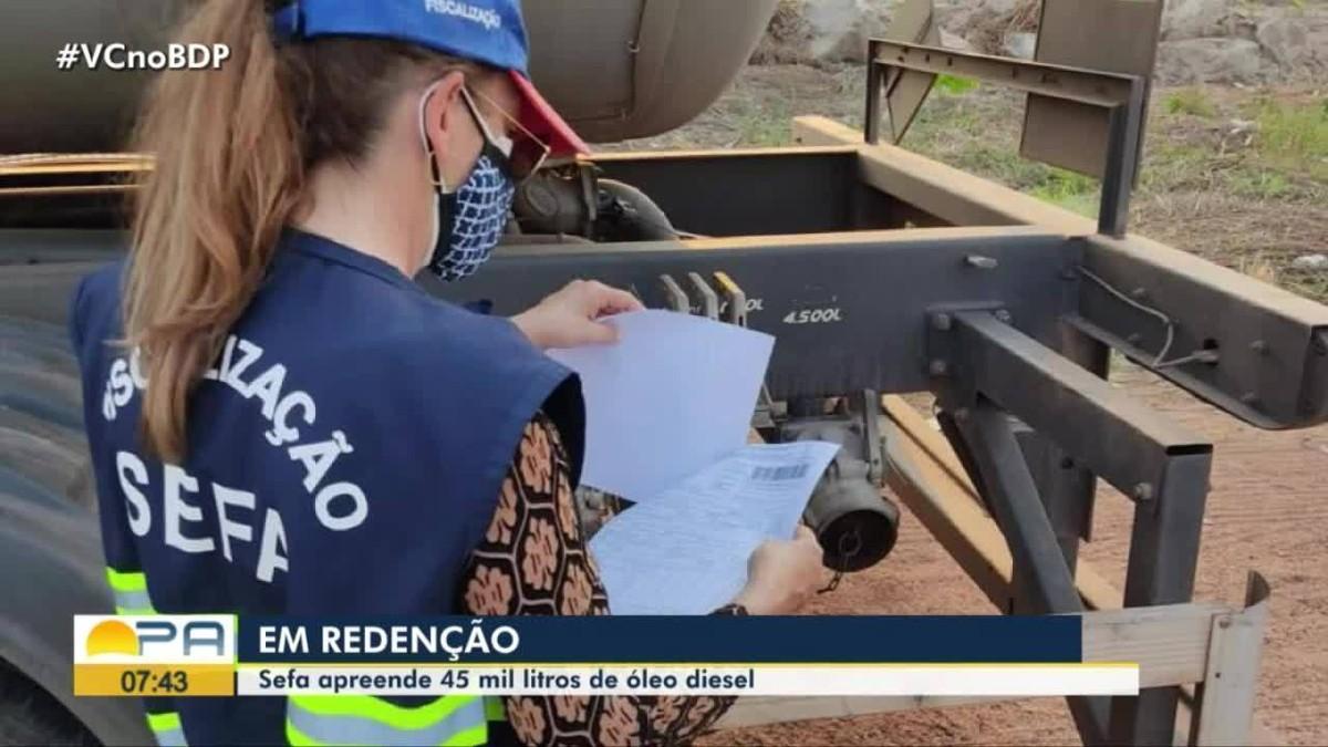 Mais de 45 mil litros de  óleo diesel são apreendidos em Redenção