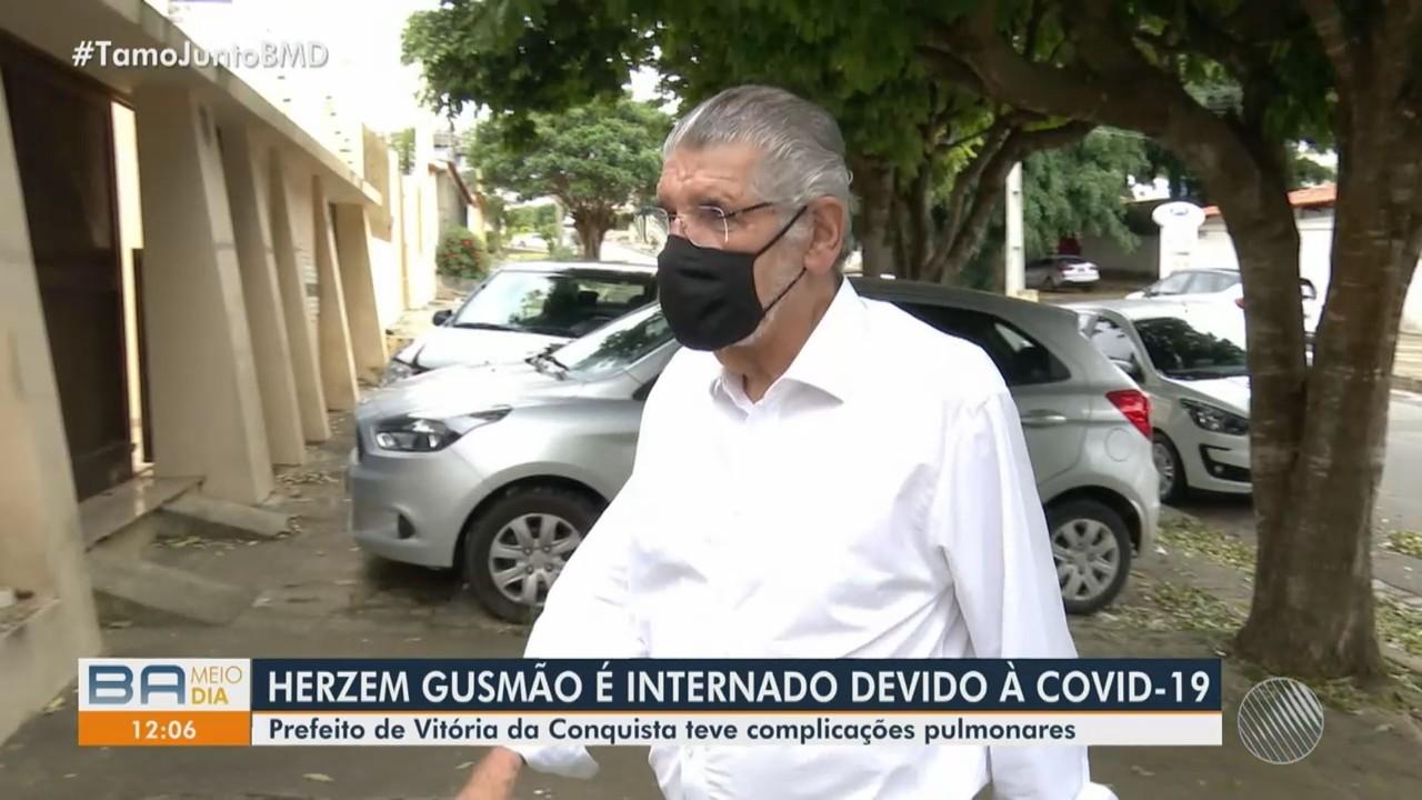 Prefeito Herzem Gusmão é internado por complicações da Covid-19 em Vitória da Conquista