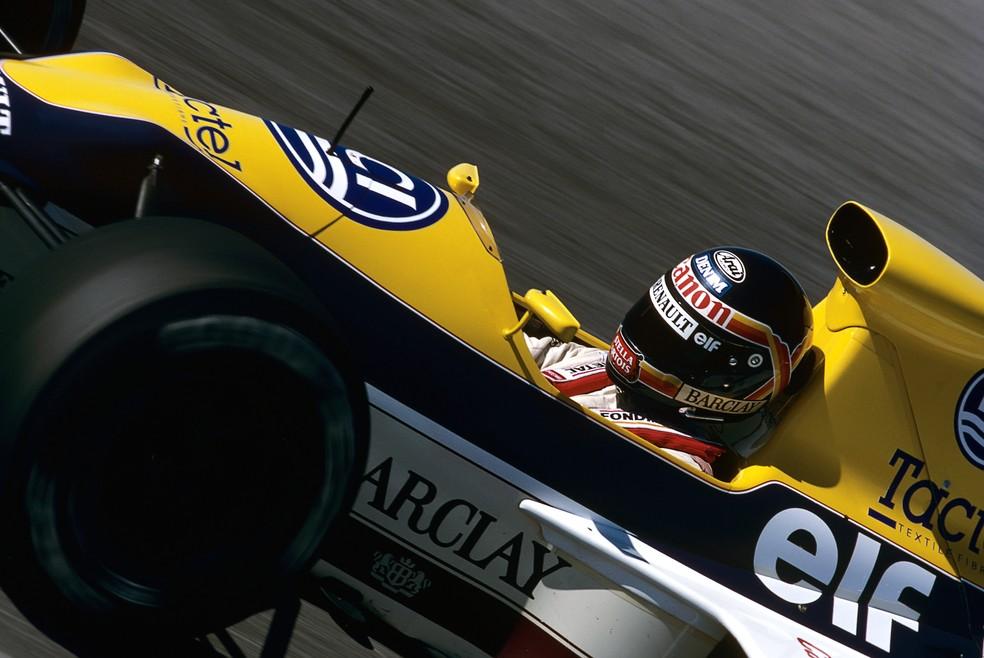 Em Jerez, em 1989, Thierry Boutsen pilotou Williams FW13 — Foto: Getty Images