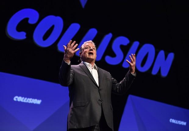 Ex-vice-presidente dos EUA Al Gore fala em evento da Collision (Foto: Divulgação/Collision)