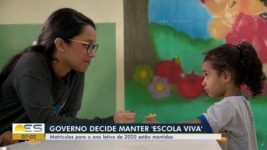 Governo do ES decide manter 'Escola Viva' de São Pedro