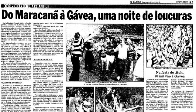 Página do caderno de Esportes do GLOBO de 2 de junho de 1980