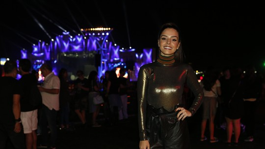 Giovanna Lancellotti festeja estreia como repórter no Rock in Rio: 'Amei a experiência'