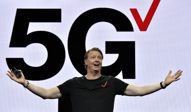 LAS VEGAS, NEVADA - JANUARY 08:  Verizon CEO Hans Vestberg delivers a keynote address at CES 2019 at The Venetian Las Vegas on January 8, 2019 in Las Vegas, Nevada. CES, the world's largest annual consumer technology trade show, runs through January 11 an (Foto: Getty Images)