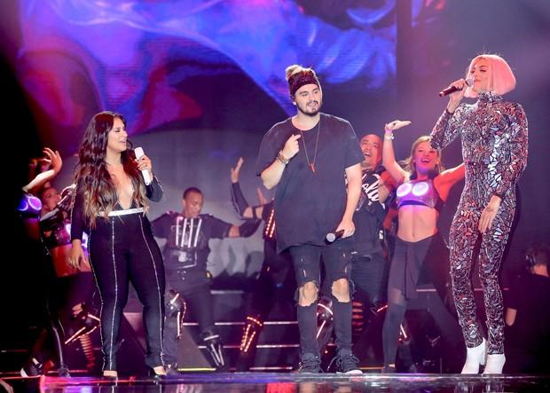 Simone, Luan Santana e Pabllo Vittar (Foto: Manuela Scarpa/Brazil News)