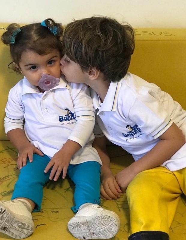 Maria e Joaquim, filhos de Felipe Simas (Foto: Reprodução/Instagram)