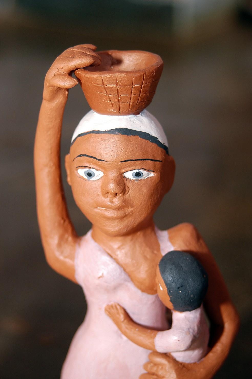 Peças em cerâmica serão expostas em feira de artesanato, em Diamantina — Foto: Sebrae/Divulgação