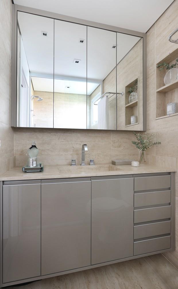 Bancada de porcelanato para banheiro: tudo o que você precisa saber (Foto: Divulgação)