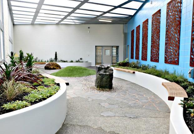 Jardim sensorial da prisão de segurança máxima em Auckland, na Nova Zelândia (Foto: Department of Corrections Ara Poutama Aotearoa)