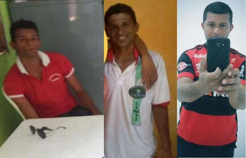 Ozéias da Silva Reis, Odeilson da Silva Reis e Marlon Ribeiro da Silva morreram em acidente durante manutenção de poço em Guaribas, no Piauí — Foto: Divulgação/ Fetag