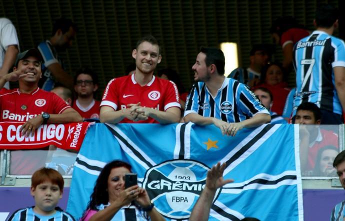 Gre-Nal torcida mista Gauchão Inter e Grêmio (Foto: Diego Guichard/GloboEsporte.com)