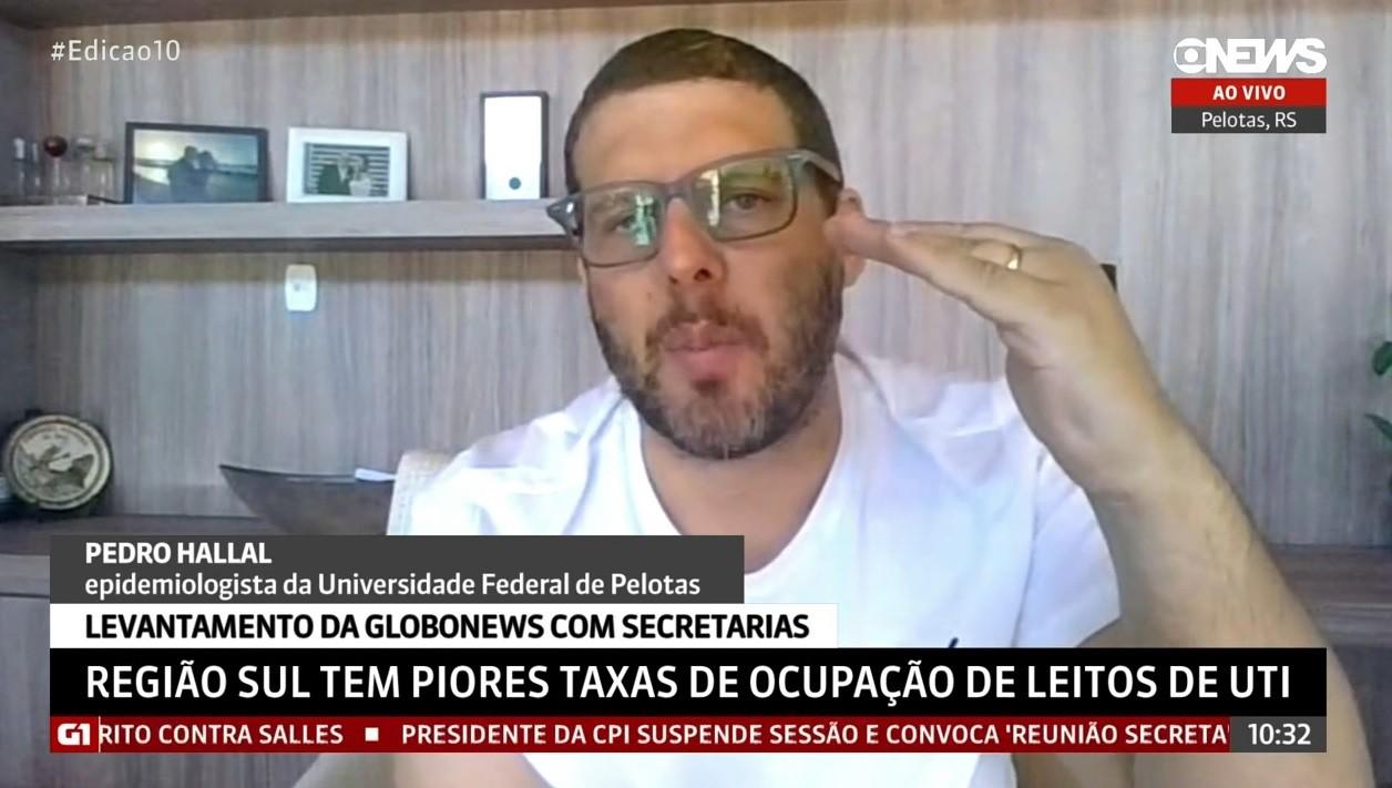 'Está vindo com um mês de antecedência', diz epidemiologista Pedro Hallal sobre 3ª onda da Covid no Brasil